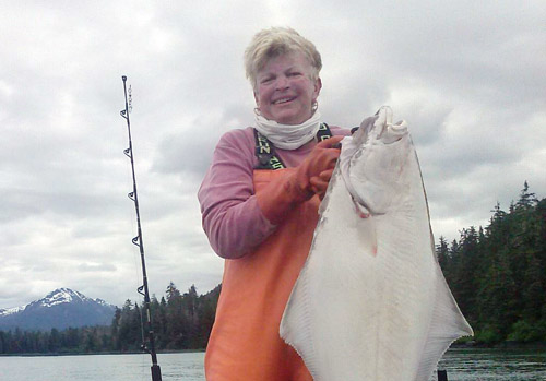Lady holding big fish